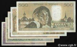 Lot 5 billets BdF : Les années 80 FRANCE  1980 F.66-67-69-70-71 TB