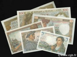 Lot 6 billets BdF : Les anciens Francs, billets NEUFS FRANCE  1940 F.05-08-13-19-26-40 pr.NEUF