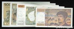 Lot 5 billets BdF : Les années 80 FRANCE  1980 F.66-67-69-70-71 SUP