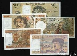 Lot 5 billets BdF : Les nouveaux Francs, billets NEUFS FRANCE  1962 F.62-63-66-69-71 pr.NEUF