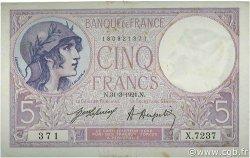 5 Francs VIOLET FRANCE  1921 F.03.05 aXF