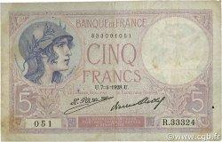 5 Francs VIOLET FRANCE  1928 F.03.12 TB