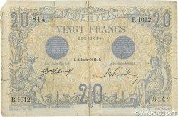 20 Francs BLEU FRANCE  1912 F.10.02 AB