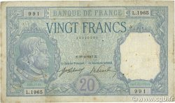 20 Francs BAYARD FRANCE  1917 F.11.02 B à TB