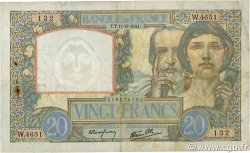 20 Francs SCIENCE ET TRAVAIL FRANCE  1941 F.12.15 TB+
