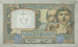 20 Francs SCIENCE ET TRAVAIL FRANCE  1941 F.12.16 TTB+