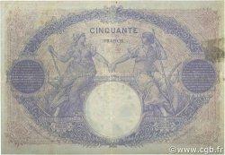 50 Francs BLEU ET ROSE FRANCE  1914 F.14.27 TB+