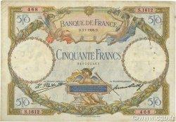 50 Francs LUC OLIVIER MERSON FRANCE  1928 F.15.02