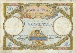 50 Francs LUC OLIVIER MERSON type modifié FRANCE  1933 F.16.04