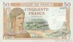 50 Francs CÉRÈS FRANCE  1936 F.17.25 TTB+