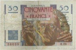 50 Francs LE VERRIER FRANCE  1946 F.20.05 B+