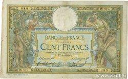 100 Francs LUC OLIVIER MERSON sans LOM FRANCE  1909 F.23.01 B+