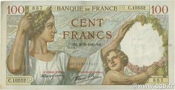 100 Francs SULLY FRANCE  1940 F.26.29 TTB+