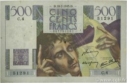 500 Francs CHATEAUBRIAND FRANCE  1945 F.34.01 TB+