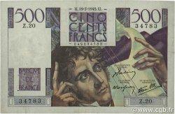 500 Francs CHATEAUBRIAND FRANCE  1945 F.34.01 TTB