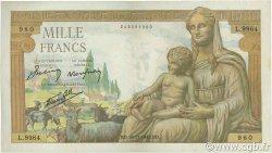 1000 Francs DÉESSE DÉMÉTER FRANCE  1943 F.40.40 TTB à SUP