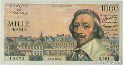 1000 Francs RICHELIEU FRANCE  1955 F.42.14 TTB