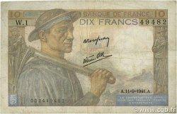 10 Francs MINEUR FRANKREICH  1941 F.08.01 S