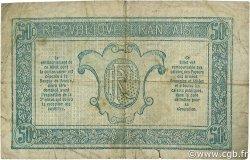 50 Centimes TRÉSORERIE AUX ARMÉES FRANCE  1917 VF.01.06 TB