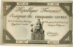 50 Livres FRANCE  1792 Ass.39a SPL+
