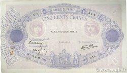 500 Francs BLEU ET ROSE modifié FRANCE  1939 F.31.22 TTB