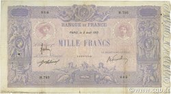 1000 Francs BLEU ET ROSE FRANCE  1912 F.36.26 TB