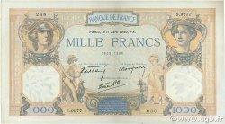 1000 Francs CÉRÈS ET MERCURE type modifié FRANCE  1940 F.38.45 TTB à SUP