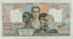 5000 Francs EMPIRE FRANÇAIS FRANCE  1945 F.47.29 SUP+