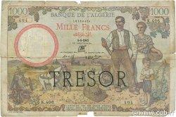 1000 Francs Algérie surchargé FRANCE  1942 VF.10.01 B