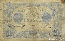 5 Francs BLEU FRANCE  1915 F.02.31 pr.TB