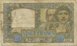 20 Francs SCIENCE ET TRAVAIL FRANCE  1940 F.12.08 B+
