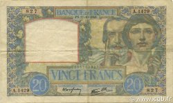 20 Francs SCIENCE ET TRAVAIL FRANCE  1940 F.12.09 TTB