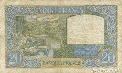 20 Francs SCIENCE ET TRAVAIL FRANCE  1941 F.12.12 B+