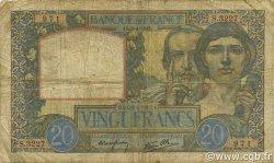 20 Francs SCIENCE ET TRAVAIL FRANCE  1941 F.12.13 B