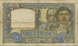 20 Francs SCIENCE ET TRAVAIL FRANCE  1941 F.12.13 pr.TB
