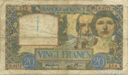 20 Francs SCIENCE ET TRAVAIL FRANCE  1941 F.12.15 B+