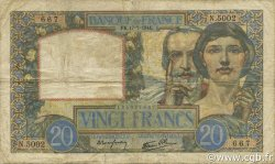 20 Francs SCIENCE ET TRAVAIL FRANCE  1941 F.12.16 B+