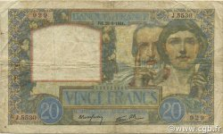 20 Francs SCIENCE ET TRAVAIL FRANCE  1941 F.12.17 B+