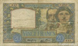 20 Francs SCIENCE ET TRAVAIL FRANCE  1941 F.12.18 B+