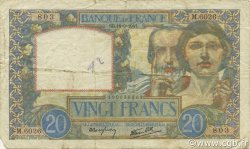 20 Francs SCIENCE ET TRAVAIL FRANCE  1941 F.12.18 TB