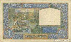 20 Francs SCIENCE ET TRAVAIL FRANCE  1941 F.12.20 TTB