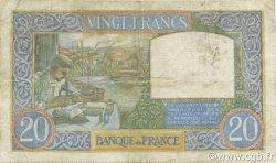 20 Francs SCIENCE ET TRAVAIL FRANCE  1941 F.12.20 B+