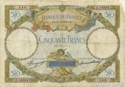 50 Francs LUC OLIVIER MERSON type modifié FRANCE  1933 F.16.04 B