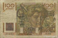 100 Francs JEUNE PAYSAN filigrane inversé FRANCE  1953 F.28bis.02 B