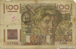 100 Francs JEUNE PAYSAN filigrane inversé FRANCE  1953 F.28bis.02 pr.B