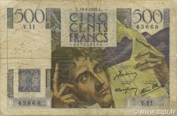500 Francs CHATEAUBRIAND FRANCE  1945 F.34.01 B