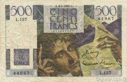500 Francs CHATEAUBRIAND FRANCE  1953 F.34.11 TB+