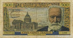 500 Francs VICTOR HUGO FRANCE  1955 F.35.04 B à TB