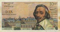 10 Nouveaux Francs RICHELIEU FRANCE  1961 F.57.13 TTB+