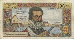 50 Nouveaux Francs HENRI IV FRANCE  1959 F.58.02 B+